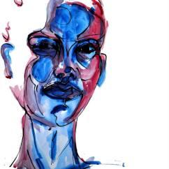 femme bleue, A2